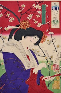 Yoshitoshi, Beauties and the Seven Flowers - Plum