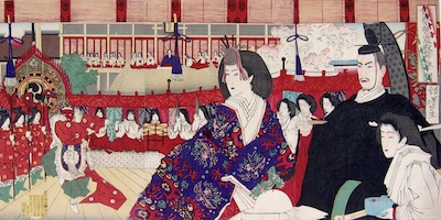 Yoshitoshi, Girls' Festival at Shishinden Hall